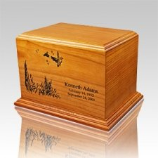 Lily Wood Cremation Urn