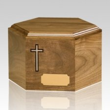 Mother of Pearl Wood Cremation Urn
