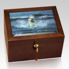 Serenity Wood Pet Cremation Urn