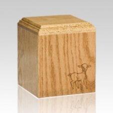Precious Playful Lamb Infant Cremation Urn