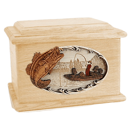 Catch of the Day Maple Memory Chest Cremation Urn