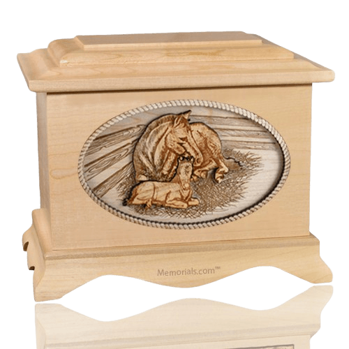 Daddys Love Maple Cremation Urn