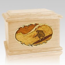 Surfer Maple Memory Chest Cremation Urn