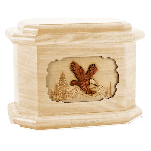 Eagle Maple Octagon Cremation Urn