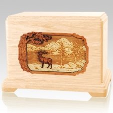 Elk Maple Cremation Urn For Two