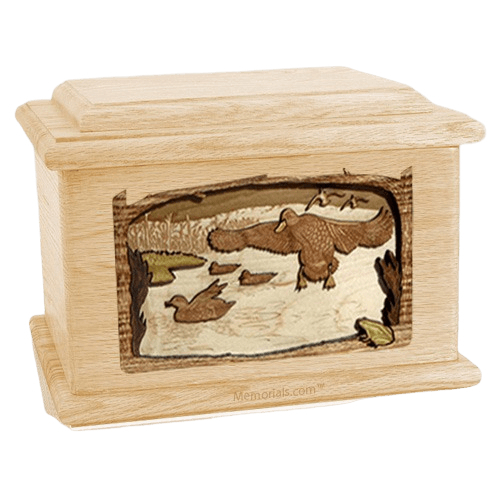 Marshland Melody Maple Memory Chest Cremation Urn