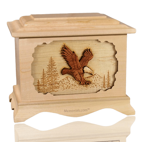 Eagle Maple Cremation Urn