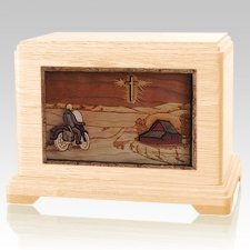 Motorcycle & Cross Maple Hampton Cremation Urn