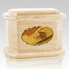 Surfer Maple Octagon Cremation Urn