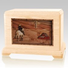 Horse & Cross Maple Hampton Cremation Urn