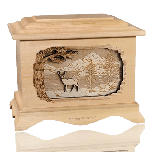 Deer Maple Cremation Urn