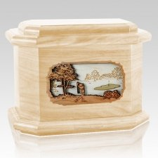 Golf Maple Octagon Cremation Urn