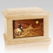 Horse Moon Maple Memory Chest Cremation Urn