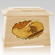 Surfer Maple Aristocrat Cremation Urn