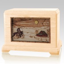 Motorcycle Moon Maple Hampton Cremation Urn