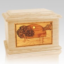Geese Maple Memory Chest Cremation Urn