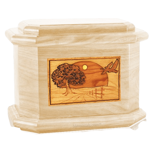 Geese Maple Octagon Cremation Urn
