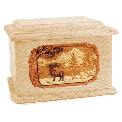 Elk Maple Memory Chest Cremation Urn