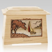 Sailboat Maple Aristocrat Cremation Urn