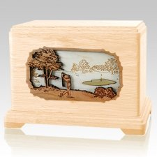Golf Maple Hampton Cremation Urn