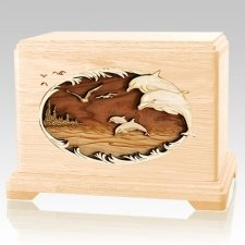 Dolphins Maple Hampton Cremation Urn