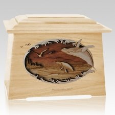 Whale & Calf Maple Aristocrat Cremation Urn