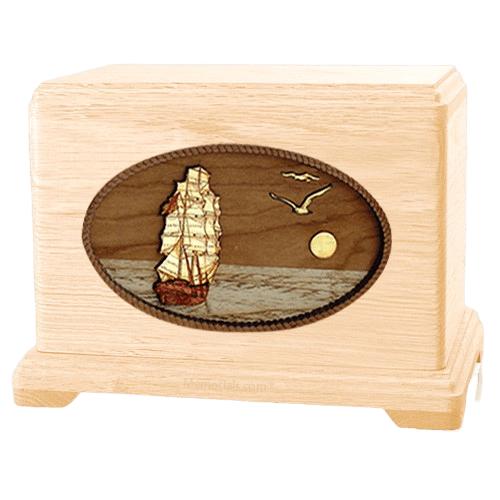 Sailing Home Maple Hampton Cremation Urn