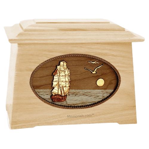 Sailing Home Maple Aristocrat Cremation Urn