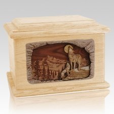 Moonlight Serenade Maple Memory Chest Cremation Urn