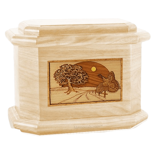 Turkey Maple Octagon Cremation Urn