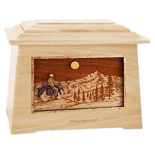 Motorcycle Mountains Maple Aristocrat Cremation Urn