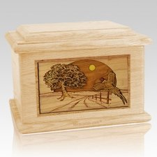 Pheasant Maple Memory Chest Cremation Urn