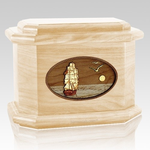 Sailing Home Maple Octagon Cremation Urn