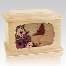 Butterfly Maple Memory Chest Cremation Urn
