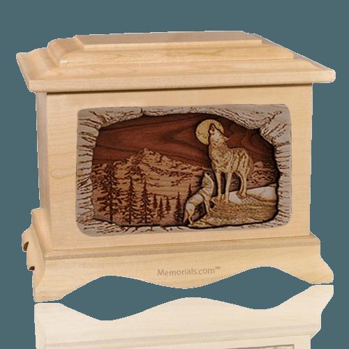 Moonlight Serenade Maple Cremation Urn