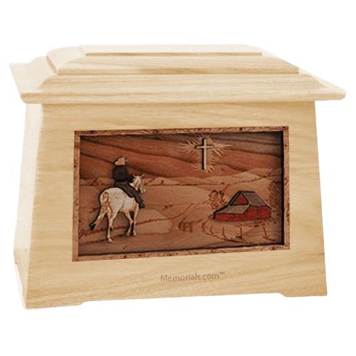 Horse & Cross Maple Aristocrat Cremation Urn