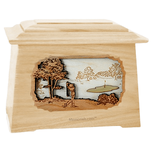 Golf Maple Aristocrat Cremation Urn