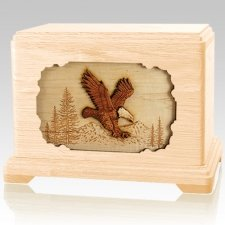Eagle Maple Cremation Urn For Two