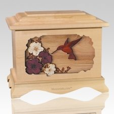 Hummingbird Maple Cremation Urn
