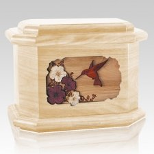 Hummingbird Maple Octagon Cremation Urn