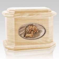Daddys Love Maple Octagon Cremation Urn