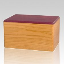 New York Wood Cremation Urn