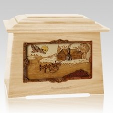 Rustic Paradise Maple Aristocrat Cremation Urn