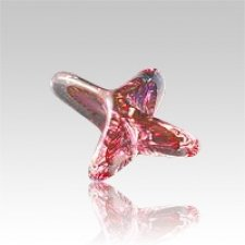 Seastar Red Art Glass Keepsake Urn