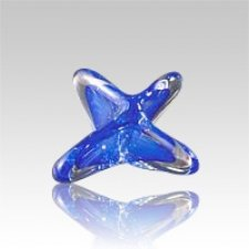 Seastar Blue Art Glass Keepsake Urn