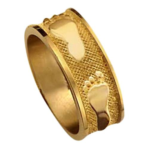 Heirloom Ring Foot Print 14k Yellow Gold Keepsakes