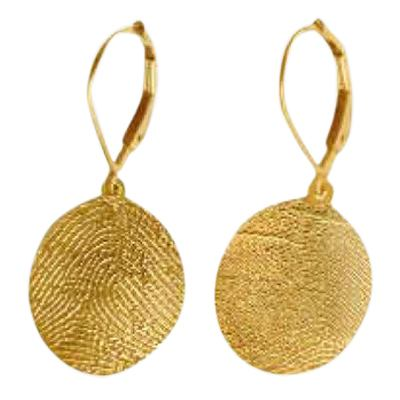 Earrings Print 14k Yellow Gold Keepsake