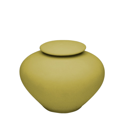Yellow Silk Medium Porcelain Clay Urn