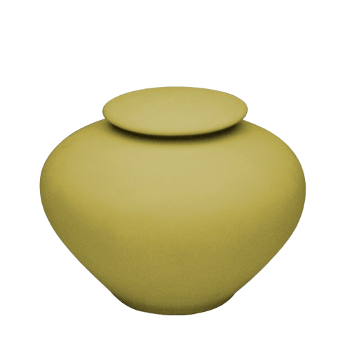 Yellow Silk Porcelain Clay Urn