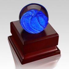 Blue Velocity Glass Keepsake